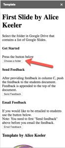 Sidebar choose a folder