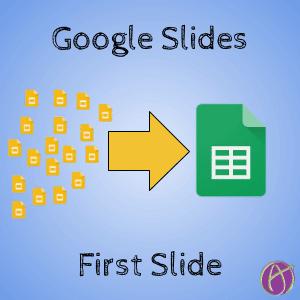 Google Slides First Slide