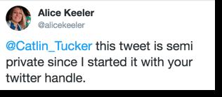 semi private tweet