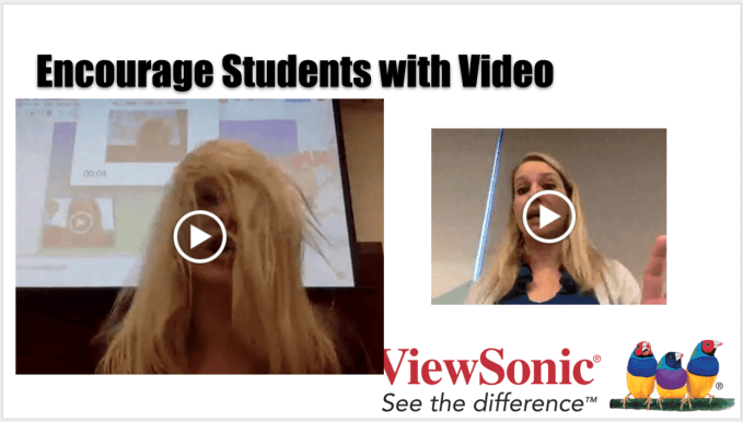 Encourage students with video
