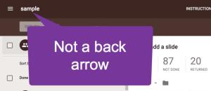 Not a back arrow