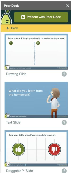 Pear Deck interactive slide templates