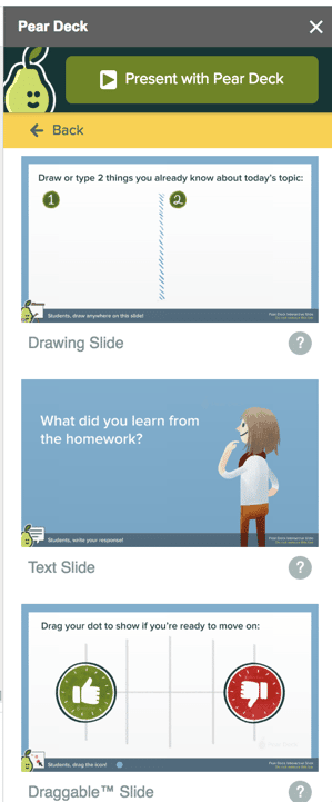 Pear Deck interactive slide templates