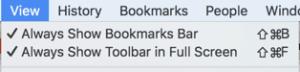 Always show bookmarks bar