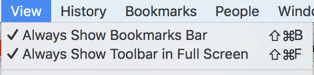 Always show bookmarks bar
