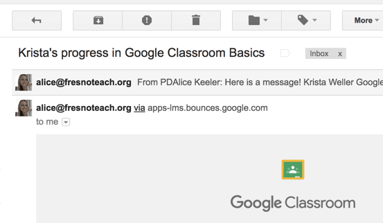 Two different emails