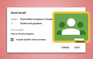 Email student work summary in Google Classroom (1)