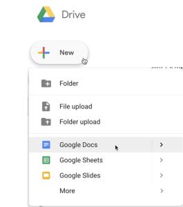 New Google Doc