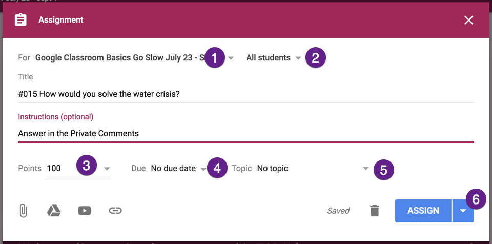 Tiny Triangles in Google Classroom