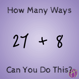 How many ways can you write out 27 + 8_