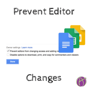 Prevent Editor Changes