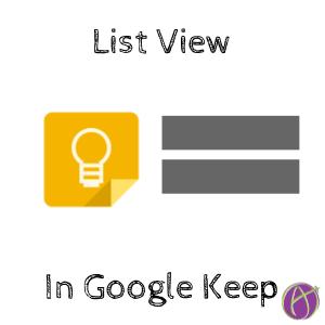 list view in google keep