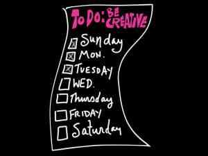 To Do List - Be Creative