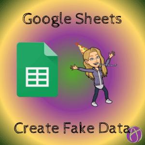 google Sheets create fake data