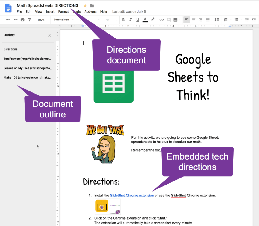 Sample Directions Document