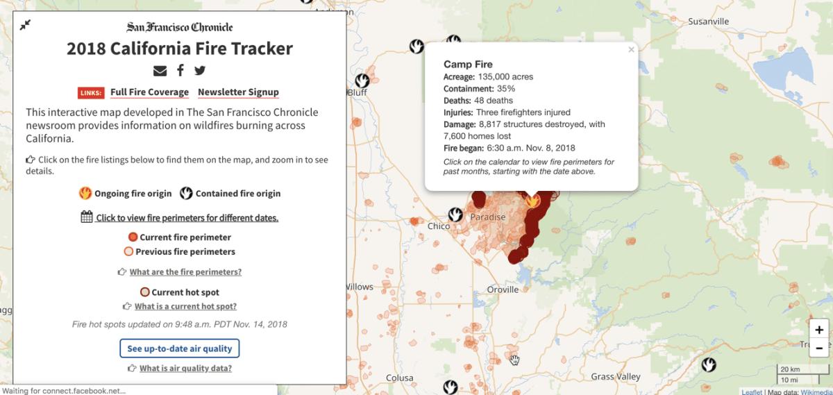 california fire tracker
