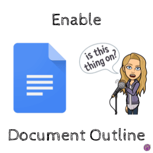 Enable Document Outline