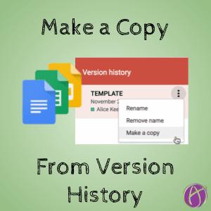 Google Docs: Copy a Version