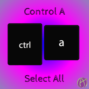 Control A Select All