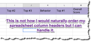 match your columns to how it maps to Google Slides