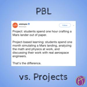 edutopia pbl vs project