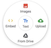 Google Sites insert wheel