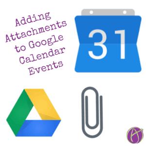Adding Attachments to Google Calendar Events