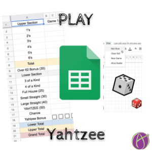 Play Yahtzee in Google Sheets with Alice Keeler