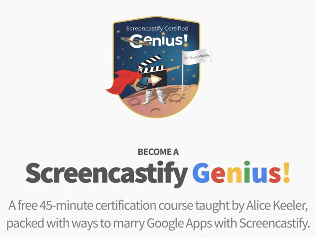 Become a screencastify Genius