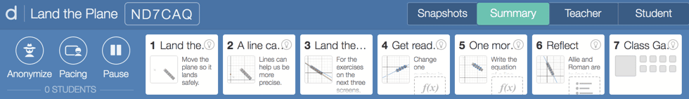 Desmos dashboard