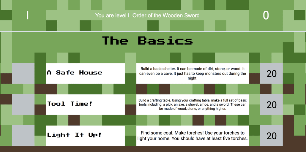 Gillispie Minecraft Challenge