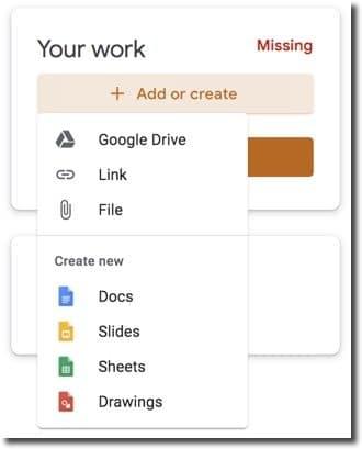 Add or Create button