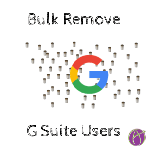 Bulk Removing Users From G Suite Admin
