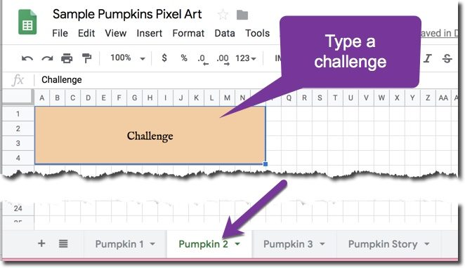 Create a pumpkin challenge