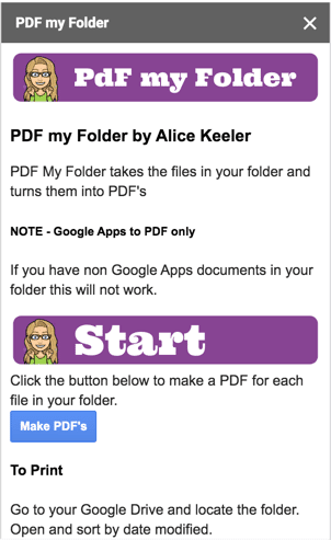 PDF my folder sidebar