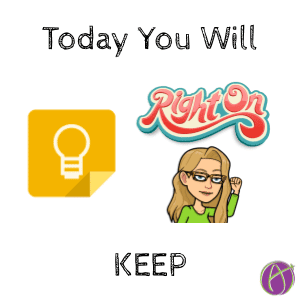 Today You will KEEP
