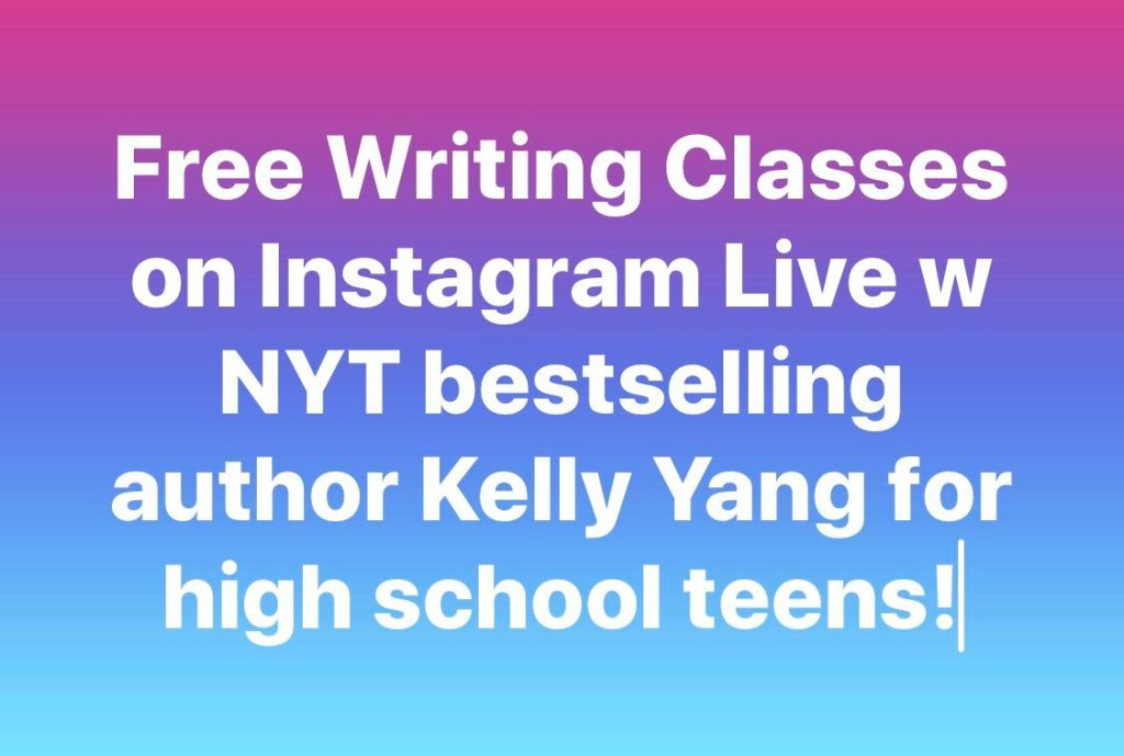 Kelly Yang is offering free writing lessons for high school students on Instagram