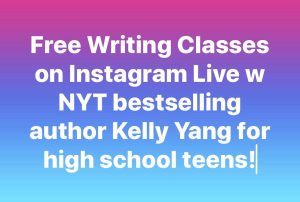 Free writing classes on instagram by Kelly Yang
