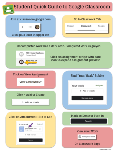 Alice Keeler Student Quick Guide to Google Classroom