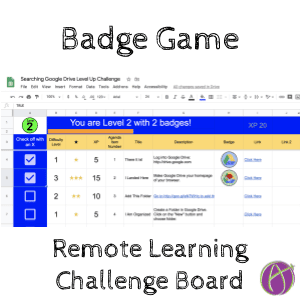 Badge Game Remote Learning Challenge Board