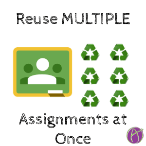 Reuse Multiple Assignments at Once