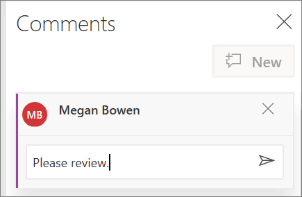 Comments window