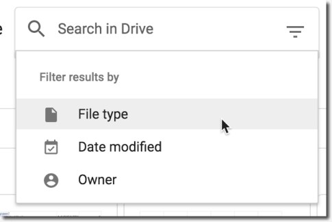 Search by file type
