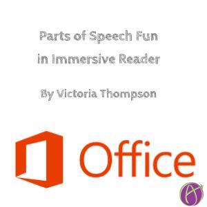 Parts of Speech Fun in Immersive Reader