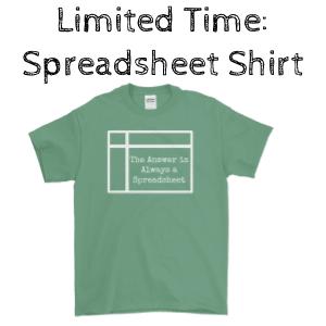 spreadsheet shirt