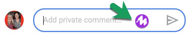Mote in Google Classroom private comment