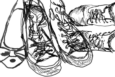 My shoes sketch