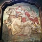 """affresco in San Lorenzo """"Carità e Pietà insieme"""