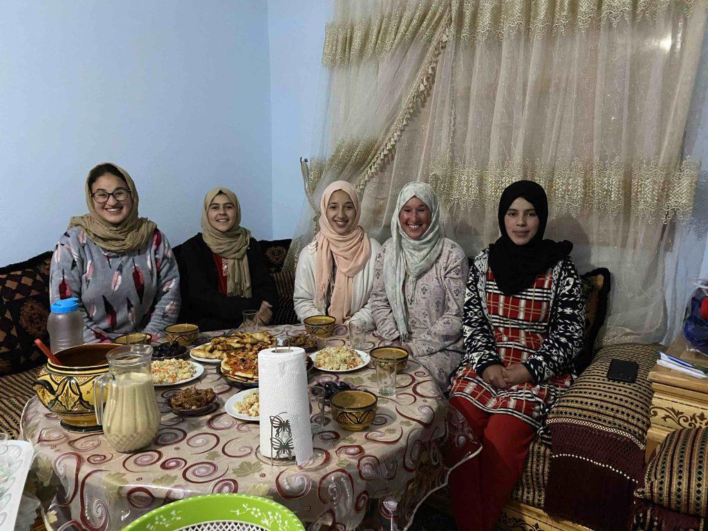 Iftar with the girls during Corona Ramadan lockdown in Morocco
