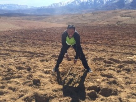 Tree planting in Morocco's Atlas Mountains